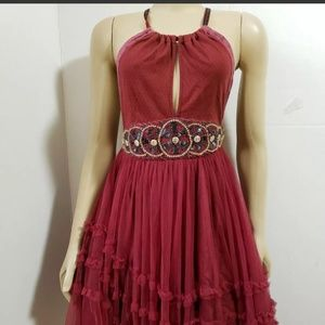 FREE PEOPLE Crisscross Spaghetti straps Dress sz 4